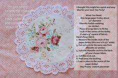 New Ideas For Cheap Bridal Shower Ideas Food Paper Doilies Tea Party Crafts, Tea Party Theme, Tea Party Birthday, Craft Party, Paper Doily Crafts, Doilies Crafts, Paper Doilies, Diy Crafts, High Tea Invitations