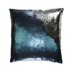 Mermaid Sequin Pillow in Solana