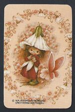 #800.383 Blank Back Swap Cards -MINT- Victoria Plum Fairy & butterfly, pink