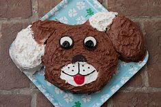 ned cake with curly poodle frosting?