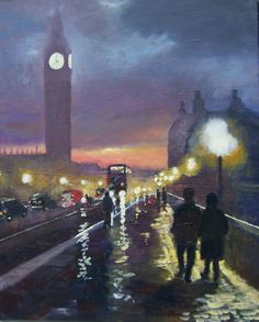 ARTFINDER: London atmosphere by Rod Bere - Another painting of my favourite city always atmospheric