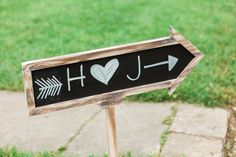 Chalkboard direction sign | Sarah Renee Studios | see more at http://fabyoubliss.com
