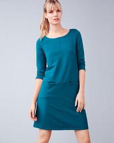 zinni™ by Garnet Hill Pocket-Detail Sweatshirt Dress