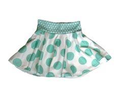 Mint Dot Organic Twirl Skirt by LittleBowAndArrow on Etsy, $32.00