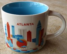 Starbucks 2013 You Are Here Collection Atlanta 14 Oz Ceramic Coffee Cup Mug Starbucks