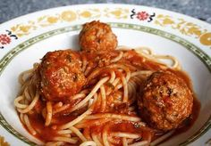 Nonna Lina's Spaghetti & Meatballs - the best tomato sauce I've ever tasted!