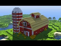 Minecraft Barn, Minecraft Bridges, Minecraft Building Blueprints, Cute Minecraft Houses, Minecraft City, Minecraft Plans, Minecraft House Designs, Minecraft Construction, Minecraft Tutorial