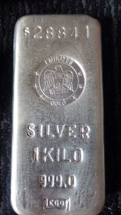 1 kilo Silver Bar - Emirates Gold (Rare) for sale online Fort Knox, Money Stacks, Silver Bullion, Silver Bars, Gold Coins, Luxury Jewelry, Precious Metals, Wealth, Minerals
