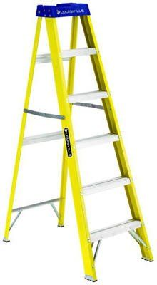 Louisville Ladder 250 Pound Duty Rating Fiberglass Step Ladder Step Ladders Ladder Fiberglass