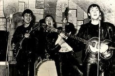 The Beatles  at the Cavern Club in Liverpool where they performed 292 times from 1961 - 1963 during the days when fame was earned, not manufactured.