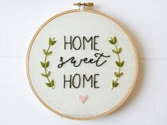 Beautiful Home Sweet Home Sign, Embroidery Hoop Art, Stitched Art, Home Decor, Housewarming Gift, Hand Embroidery The post Home Sweet Home Sign, Embroidery Hoop Art, Stitched Art, Home Decor, H ..
