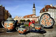 Boleslawiec Poland just to buy Pottery. I love all the pottery my family has given me from here!