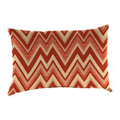Sunbrella Set of 2 Fischer Sangria UV-Protected Rectangular Outdoor Decorative Pillows