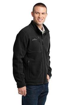 Eddie Bauer - Wind Resistant Full-Zip Fleece Jacket Style EB230 Black Angle