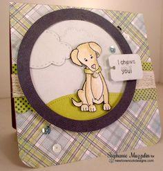 Labrador Dog Card by Stephanie Muzzulin | Fetching Friendship Stamp set by Newton's Nook Designs