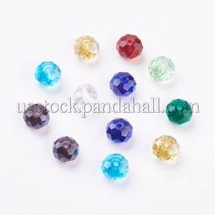 4mm Bicone Glass Beads Strands Mixed Colour  about  80pcs