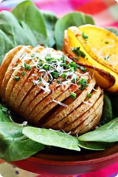 Parmesan Hasselback Baked Potatoes - these are in the oven as we speak. Hope they taste as good as the pinners say they do.