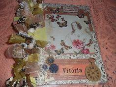 Scrap da Ester: caderno decorado Damas