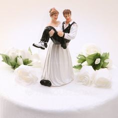 Cake Topper - $19.69 - Funny & Reluctant Resin Wedding Cake Topper (119030555) http://jjshouse.com/Funny-Reluctant-Resin-Wedding-Cake-Topper-119030555-g30555