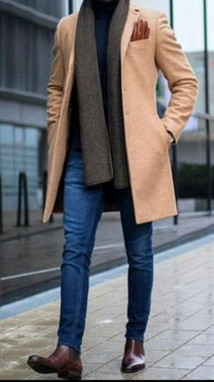 Men's fashion trends come and go by the day it seems, as fashion has always been a cyclical beast. Here are trends that you can experiment with today. A Well Dressed Man: Coats, Trench Coats, Peacoats, Top Coats Site : Business Casual Men, Business Fashion, Men Casual, Business Style, Men's Business Outfits, Smart Casual, Casual Wear, Mode Costume, Stylish Mens Outfits