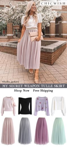 My secret weapon: long pink tulle skirt Shop chicwish and . - My secret weapon: long pink tulle skirt Shop Chicwish and get up to discount. Mode Outfits, Skirt Outfits, Chic Outfits, Fall Outfits, Fashion Outfits, Jeans Fashion, Jupe Tulle Rose, Pink Tulle Skirt, Look Fashion