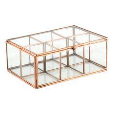 Skleněný box Six Copper