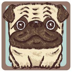 Square dogs by Toru Sanogawa, via Behance