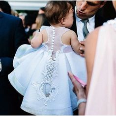 Most incredible flower girl dress Baptism Dress, Christening Gowns, Baby Girl Christening Dress, Baptism Outfit, Little Girl Fashion, Kids Fashion, Little Girl Dresses, Flower Girl Dresses, Instagram Wedding