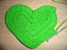 tejidos artesanales en crochet: como tejer un corazon en crochet
