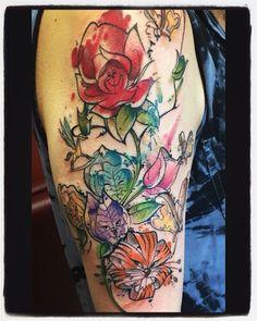 Do you suppose she's a wildflower? #aliceinwonderland #tattoo #disney…