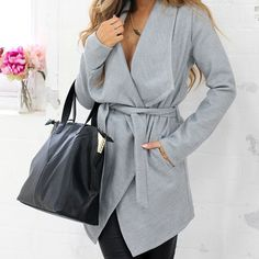 Our 'Step Inside' coat + 'Take It With You' bag are our fave