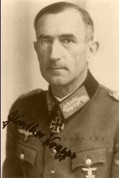 ✠ Günther Krappe (April 13th, 1893 - December 31st, 1981) RK 11.04.1944 Generalleutnant Kdr 61. Inf.Div