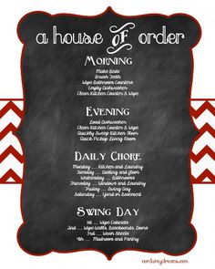 House Cleaning Schedule {Free Download}