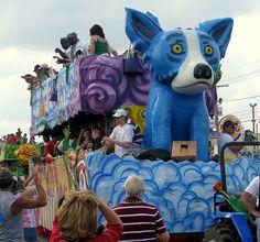 Mardi Gras Blue Dog float.