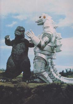 Godzilla dances with Mechagodzilla
