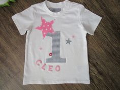 T Shirt Geburtstagsshirt ★Geburtstag Zahl 1,2,3,4 Unisex, Birthday Shirts, Onesies, Applique, Anna, T Shirts For Women, Clothes, Etsy, Tops