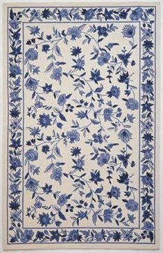 Maybe I Should Go More Traditional With The Rug White And Blue China Pattern