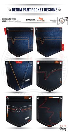 DENIM PANT POCKET DESIGNING on Behance