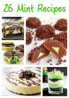 If you love mint flavor, then you need to check out these delicious Mint Recipes. Featuring mint chocolate cheesecake, thin mint cookies, mint oreo cheesecakes, mint chocolate donut holes, peppermint patties, Andes chocolate mint pancakes, chocolate mint