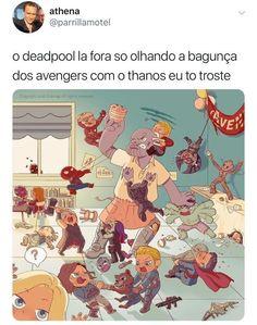 Olha o Lokiiii! Mundo Marvel, Marvel Memes, Marvel Avengers, Marvel Comics, Memes Status, Dc Memes, Funny Memes, Marvel Universe, Nerd