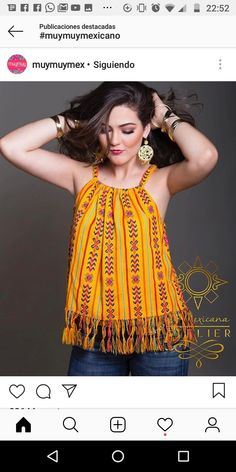 Mexican & tipica cosas Simple Dresses, Casual Dresses, Casual Outfits, Cute Outfits, Fashion Outfits, Womens Fashion, Mexican Blouse, Mexican Outfit, Mexican Dresses
