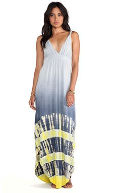 Gypsy 05 Tangier Maxi Dress in Black Iris Ombre