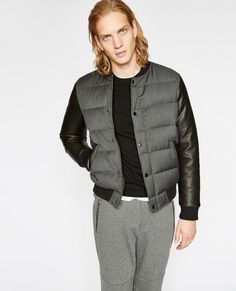 8e9864f993 Grey varsity-style down jacket - THE KOOPLES SPORT MAN Mens Clothing Lines,  The