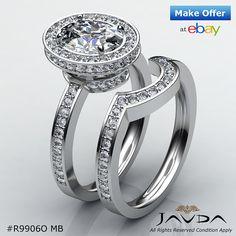 Halo Pave Oval Bridal Set Diamond Engagement Ring GIA G VS2 Platinum 950 2.2 ct