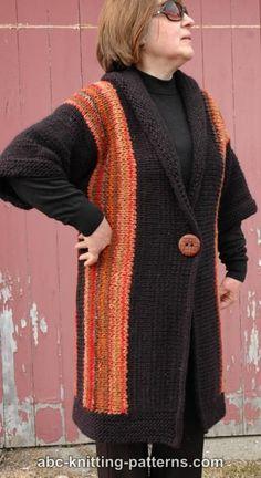 Free Sideways Jacket Knitting Pattern