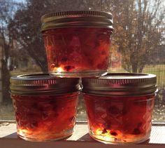 Orange-Pomegranate Marmalade by Lorraine Eaton. Recipe by Elizabeth Field's book, Marmelade: Christmas in a jar! #Marmalade #Orange #Pomegranate