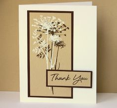 Thank You card - like the light and dark ink over top of each other with the same stamp.