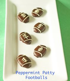 Peppermint Patty Footballs! - Amazing what @Shoshana Ohriner can do!!