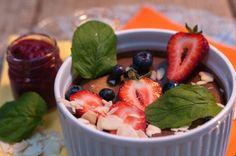 #dessert #chocolate #mousse #strawberries