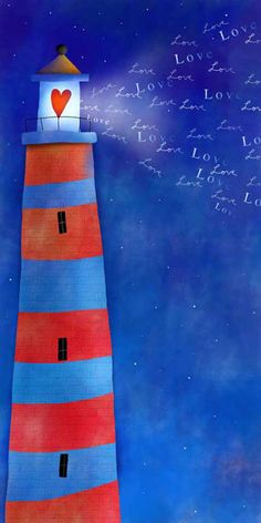 """Friends are like lighthouses, with light coming from their hearts..."" (Tom Baker) (Image: Whimsical Art)"